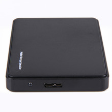 Black 2TB Mobile HDD Enclosure Case USB 3.0 to SATA HDD Hard Drive External Enclosure Case Without Screws For Windows/Mac OS