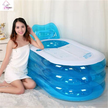 New Foldable Durable Adult SPA Inflatable Bath Tub with Electric Air Pump(China)