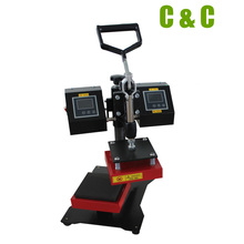 Double Heating Plate Heat Press Machine Good For Small Size High Quality Logo Heat Tranfer NO.HP3815-1(China)
