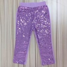 lavender lilac mauve sequin leggings delicate and special girls pants girls gold sequin bottoms children's clothing