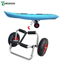 65KG Loading Capacity Foldable Kayak Trolley Carrier Energy-saving Two-wheeled Boat Trolley for Kayak Canoe Boat