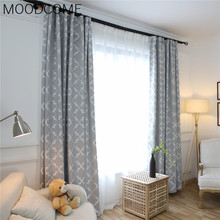 Ihlow Cotton Jacquard Curtain Fabric with High Weight and High Shading Curtains for Living Dining Room Bedroom blinds(China)