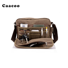 High Quality Men Canvas Retro Travel Shoulder Bag Student Crossbody Courier Large Capacity(China)