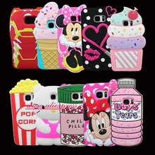 HOT 3D Silicon Cartoon Cupcake Batman Bunny Minnie Sexy Lip Dog Stitch Soft Cell Phone Case Cover for Samsung Galaxy S7