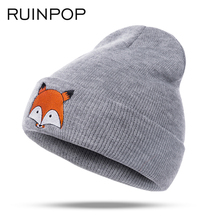 RUINPOP New Children Winter Hats Boys Girls Hats Autumn Woman Kids Warm Knitted Hat Cotton Men Caps Hat Cute Skullies Beanies(China)