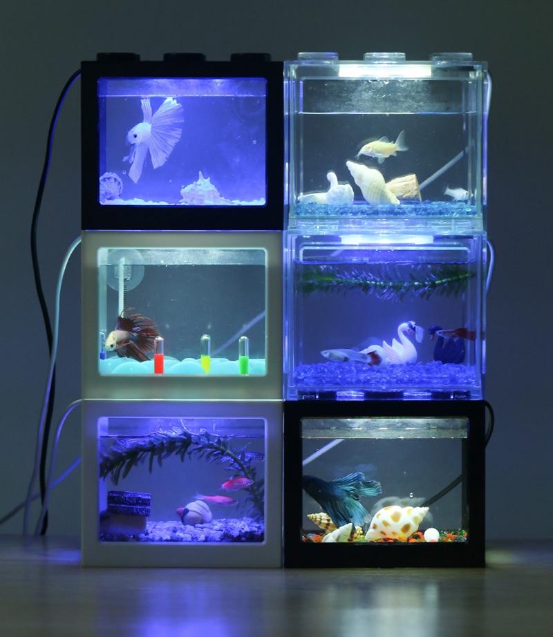 Building Block Mini Aquarium Fish Tank