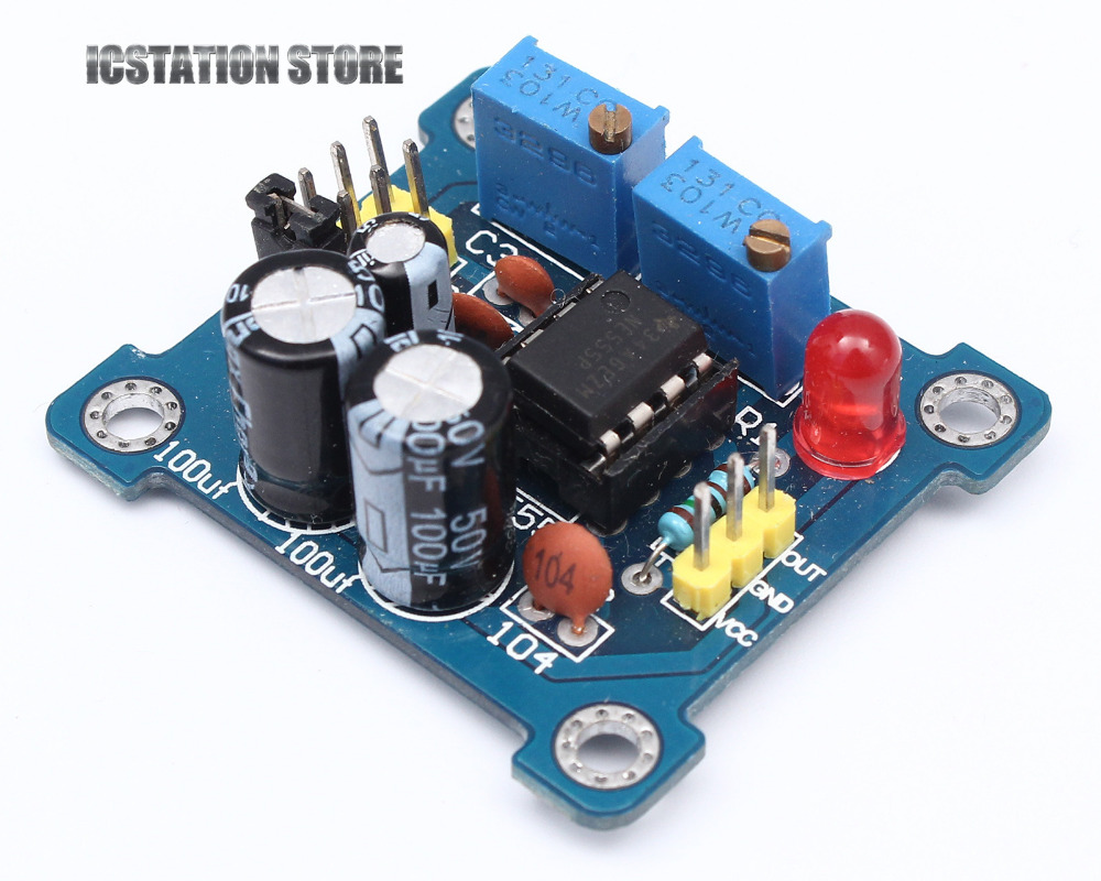 5Pcs NE555 Duty Cycle and Frequency Adjustable Module DIY Kit Pulse Generator <br><br>Aliexpress