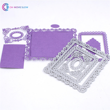 Metal Square die cutting dies scrapbooking embossing folder suit for sizzix fustella big shot cutting machine