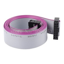 10pcs FC-16P 16 Pins 2.54mm Pitch 20cm JTAG AVR Download Cable Wire Connector Gray Flat Ribbon Data Cable