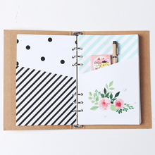 New cute original creative handmade 6 holes binder planner spiral notebook inside organizer pouch accessories stationery A5 A6
