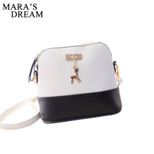 Mara's Dream women leather small shoulder bag women Deer Spliced Collision cross body bag Women shoulder bags girl messenger bag(China)