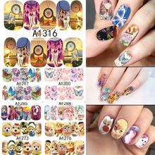 SWEET TREND 48Sheets Animal/Windmill/Feather/Butterfly Nail Art Water Transfer Stickers Decals Manicure Full Wraps LAA1273-1320