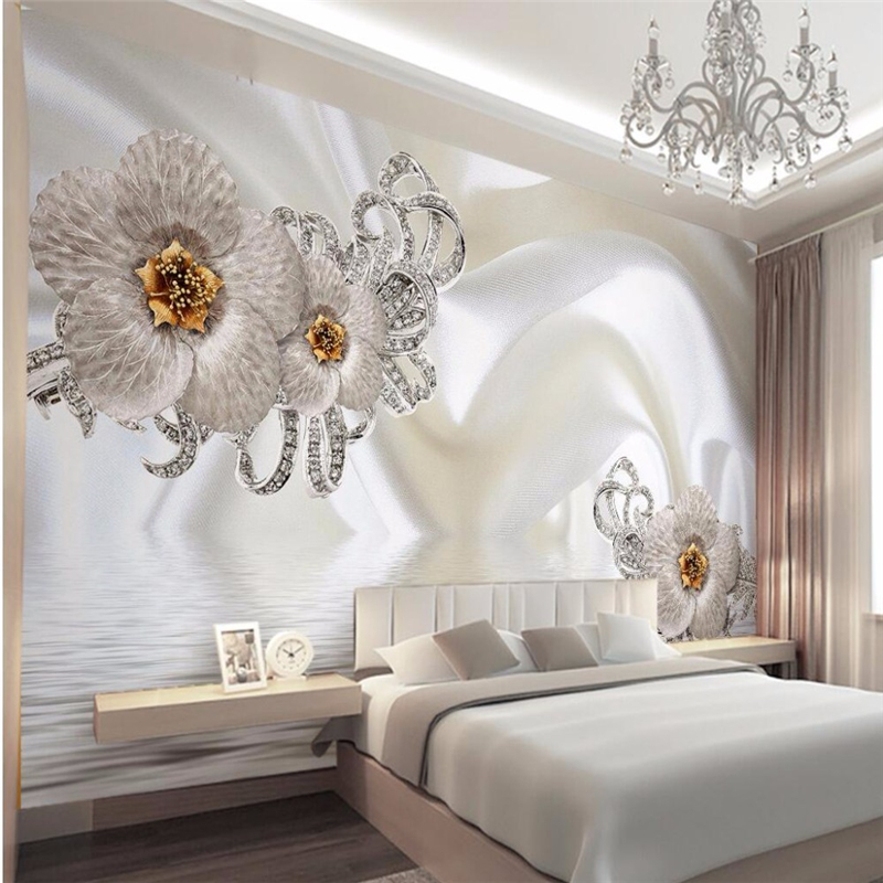Fresco-3d wallpaper home decoration photos 3D living room background wallpaper photo imitation silk diamonds large wall murals<br><br>Aliexpress