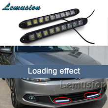 2X Car LED Daytime Running Lights 12V 9 LED DRL Lamp For Mitsubishi ASX Lancer 10 9 Outlander Pajero I200 For Mazda 3 6 2 CX-5