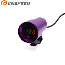 Free shipping CNSPEED 37MM Digital Smoked Lens Exhaust Gas Temperature EGT EXT temp Gauge Auto Gauge Car Meter purple YC100153(China)
