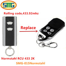 5pcs Free shipping 2 channel Normstahl RCU 433 2K Design garage door remote control - rolling code, 433,92 MHz(China)