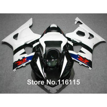 100% fit for SUZUKI Injection molding GSXR1000 fairing kit K3 K4 2003 2004 white blue black fairings set GSXR 1000 03 04 AP37