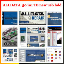 2017 New Alldata Auto Repair software and mitchell ondemand 2015+ElsaWin+vivid workshop data all data 50 in1tb usb hdd repair