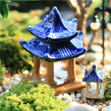 New Mini pavilion Model Fairy Garden Miniatures DIY Doll House/ Home Desktop/ Succulents/ Terrarium /Micro Landscape Decoration