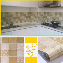Wall Stickers PVC Private Kitchen oil-proof Self-adhesive Mosaic Tile Style Bathroom waterproof Matte Surface Wallpaper