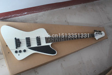 Free Shipping Wholesale firebird electric bass guitar with White color, EMG pickup NEW
