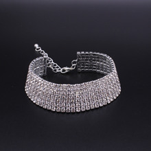 Wide Bracelet Rhinestone Bangle Women Bracelet Femme Female Statement Armband Pulseras Mujer Moda 2017 Bracciali Donna Bracelete(China)
