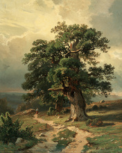 free shipping Russian painter Shishkin tree road landscape oil painting canvas painting on canvas wall art decoration pictures(China)