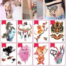 Childlike Temporary Body Art Animal Tattoo Sticker Waterproof Child Interest Painless Chinese zodiac decals tattoo stickers Y2