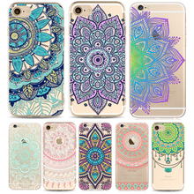 Phone Case Cover For iPhone 7 6 6s Plus 7Plus Soft Silicon Colorful Hollow transparent HENNA OJIBWE DREAM CATCHER Ethnic Triba