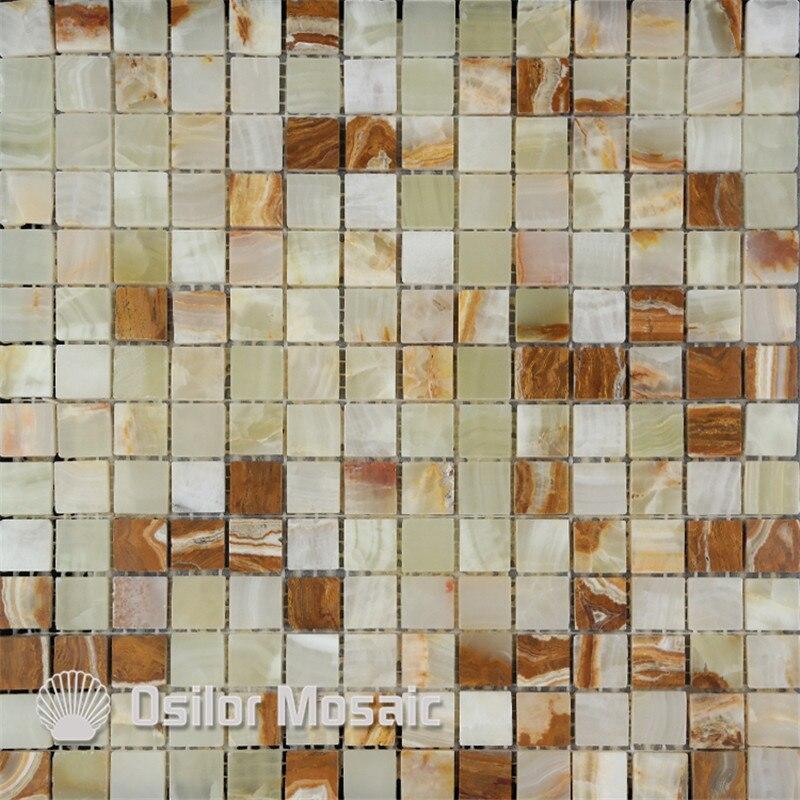 color natural de piedra azulejos de mosaico de mrmol jade azulejo de mosaico para la decoracin casera