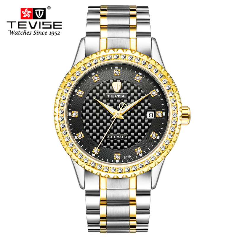 Men Watches Luxury Top Brand TEVISE Sport Mechanical Watch Gold Clock Men Tourbillon Automatic Wristwatch With Calendar<br>