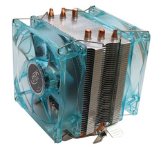 Professional Dual CPU Fan PC Cooler Heat Sink Radiator with LED Light Mute Version Suitable for Intel for AMD 3 Copper Tubes