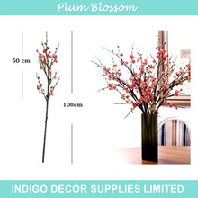 Indigo-al por mayor 100 unids chino plum blossom envío gratis melocotón cereza flor artificial wedding party evento flor falsa