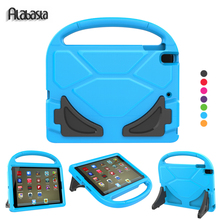 Alabasta Case for iPad Air 1 kids Child Cover Hand Strap and Kickstand EVA Save Shell 9.7inch Football Pattern Anti-Dust Case(China)