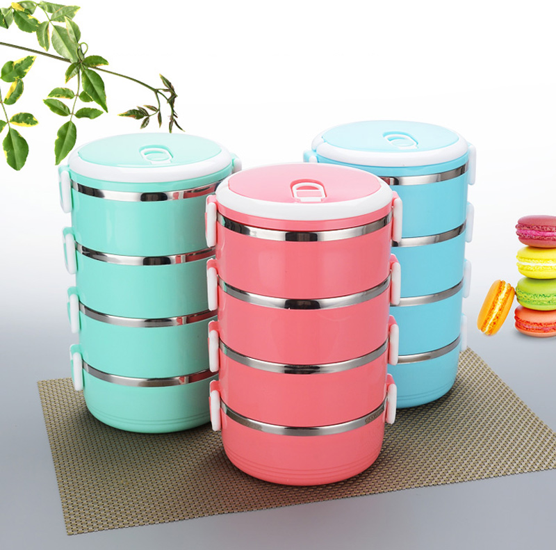 4 Layer Portable Stainless Steel Lunch Bento Boxs Japanese Style Fruit Food Storage Container For Kid School Camping Travel Sets10