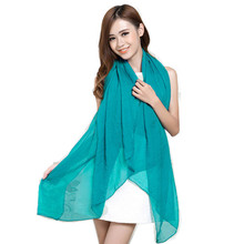 Summer style long shawl Pascual scarves large scarf solid color pashmina chiffon silk elegant women scarf cape 150*110cm