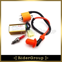 Racing Ignition Coil 6 Pins AC CDI Box D8TC Spark Plug For 150cc 200cc 250cc Engine Parts Chinese Dirt Pit Bike ATV Quad