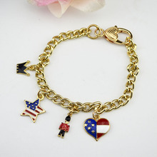 DIY bracelet chain bracelets with pendants fashion accessories handbag charms dancing girl / cake pendants  gifts  best friends