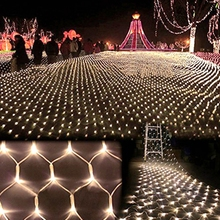 New 1.5mx1.5m 96 Leds AC220/110V LED Net Mesh Fairy String holidays Lights for Christmas Party Wedding Indoor Outdoor Decoration