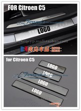 4pcs/lot Stainless Steel Door Sill Scuff Plate For citroen c5