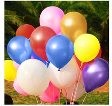 100pcs/lot Latex Air Balloons Birthday Wedding Festival Party Supplies Home Decoration Inflatable Balls for Holidays Mutilcolors