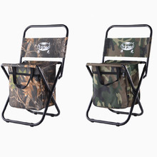 New Portable Fishing Chair With Storage Cool Bag Steel Pipe X Frame Polyester Chairs Stool Outdoor Sports Fishing Chair Bags(China)