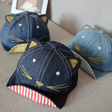 Cowboy Cute Cat Ear Baseball Caps Baby Boy Hat Summer Spring Autumn Beret Baby Sun Hat Soft Breathable Baby Hat Child Accessorie(China)