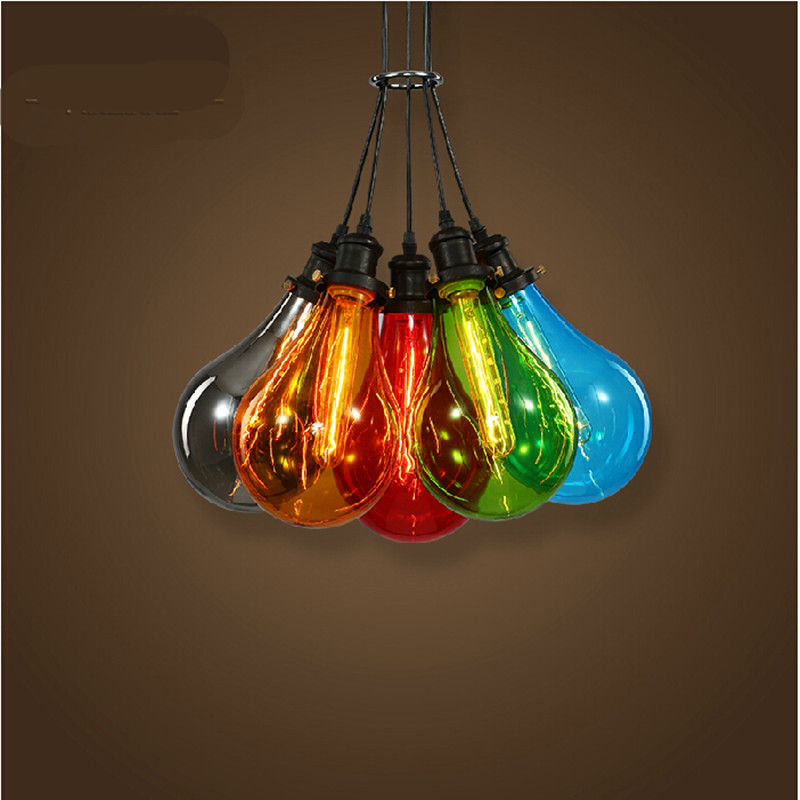 DIY colourful romantic fairytale crystal glass Dia 16cm led e27 pendant light for dining room living room AC 85-265V 1140<br>