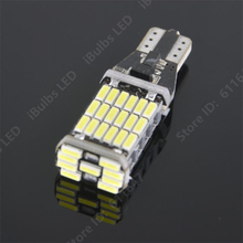 1PCS Super Bright T15 W16W 45 SMD LED 4014 Car Auto Canbus Marker Lamps Reading Light Interior Lighting Bulb(China)