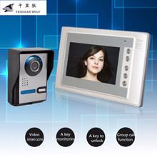 TRINIDAD WOLF 700tvl 7''Video Intercom Door Phone System With 1 Monitor Night Vision Doorbell Camera Intercom Door Phone