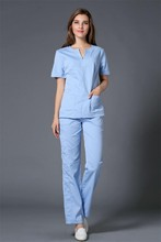 2017 High Quality Medical Scrub Sets Doctors and Nurses Hospital Uniforms Fashion Design Slim Fit Beauty Salon Workwear Suits