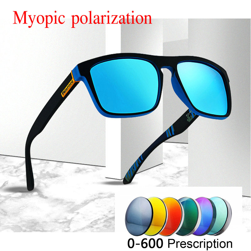 2019 new men women Custom Made Myopia Minus Prescription Polarized LensRetro squar esunglasses men Driving goggles UV400 NX