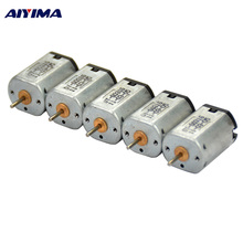 AIYIMA 10pcs Strong Magnetic Carbon Brush N20 Micro Motor Aircraft 4.2V 39000RPM High Speed DC Motor