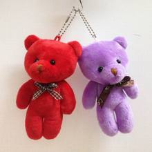 New Kawaii Small Teddy Bears   13cm bow-tie Joint Bear Doll Mini Plush Teddy Bear Cell Accessories Mobile's Pendant
